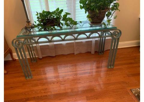 Wrought Iron/Glass Table